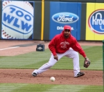 Juan Francisco takes grounders at third