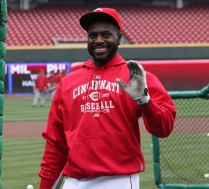 The real Brandon Phillips has been replaced by a life-like robotic replica.