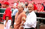 With a large media contingent at GABP today, Rob Butcher stands close to the Loose Cannon...just in case.