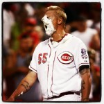Latos gets the win