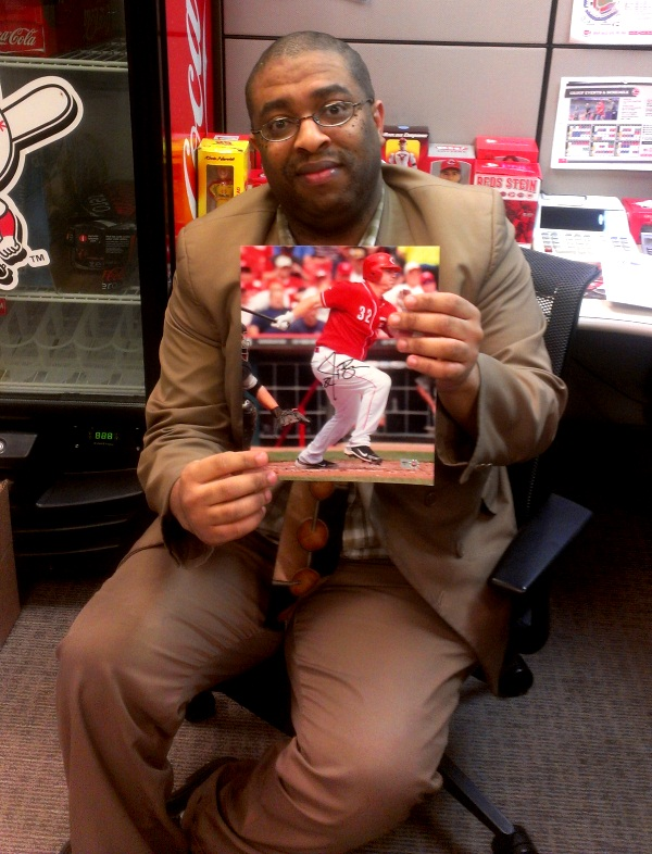 Displayed by Reds staffer Cardell Carter