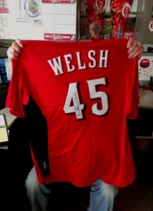 Modeled by Reds Staffer Jansen Dell