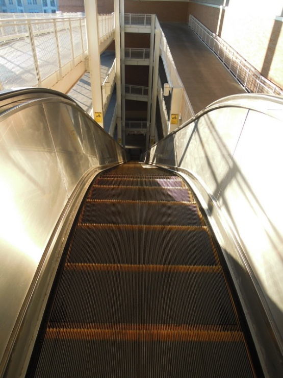 A cold and lonely escalator at GABP