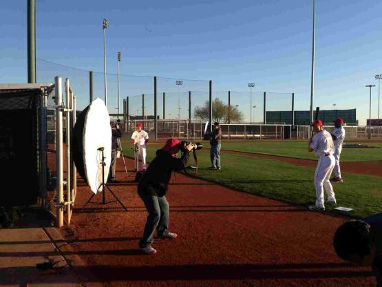 Photo day with Getty Images and Topps