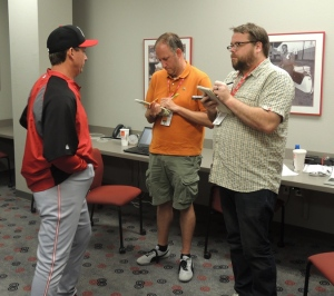 Mark Berry tells MLB.com's Mark Sheldon and Cincinnati Enquirer's C. Trent Rosecrans that he has cancer