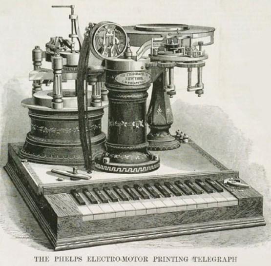 1877_Phelps_Electro-Motor_Printing_Telegraph