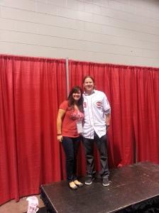 Jennifer Slaybaugh with Ryan Hanigan.