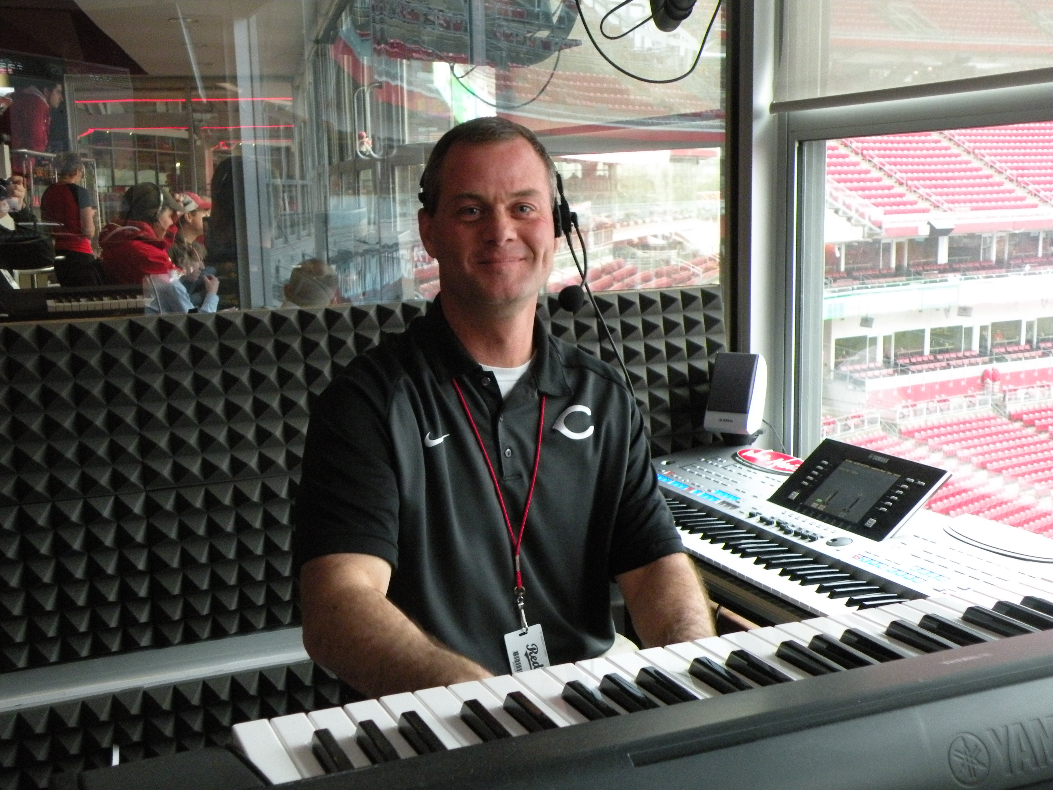 There's a rain delay, crowds are getting restless?  No problem, Reds organist John Schutte is there to save the day! You can find him on Twitter @TheRedKeys.