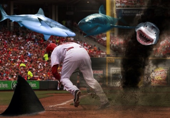 This may or may not have happened yesterday at GABP.  SHARK VOTTO!