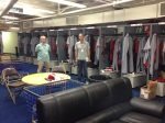 Reds beat writers John Fay and Mark Sheldon snooping around the Reds clubhouse