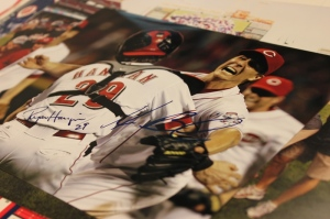 "My boss, Rob Butcher had Homer and Hanigan sign photos of ""No Hitter #2""for my colleague Larry Herms and I."