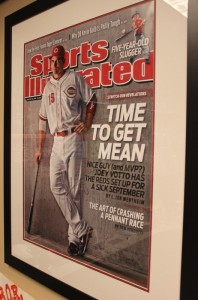 Joey Votto signed this SI cover poster that I had framed and placed in BOR Headquarters