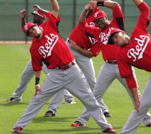Billy Hamilton and others stretch