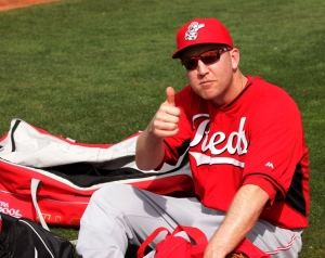 Todd Frazier gives it a 'thumbs up'