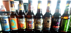 """Beers from """"The Long Bar"""""""