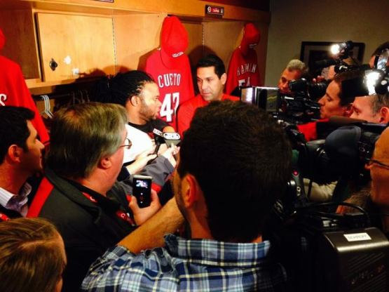 Postgame: Johnny speaks to the media following his 3-hit CG SHO