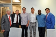 Reds President & CEO Bob Castellini, MLB Commissioner Bud Selig, Jay Bruce, Joey Votto, Brandon Phillips and Reds COO Phil Castellini.