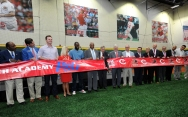 The grand opening of the P&G Cincinnati MLB Urban Youth Academy concluded with a ceremonial ribbon-cutting.