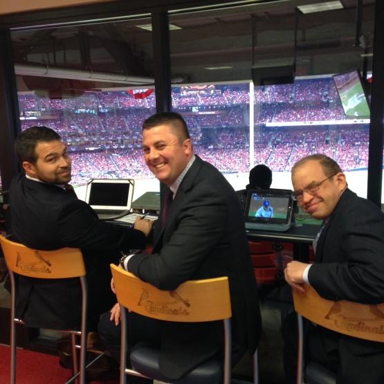 L-R: Bennett Shields of MLB, Jim Misudek of the Braves, Ethan Wilson of the Mets