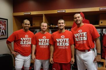 Reds Players Wear #VoteReds Shirts 129