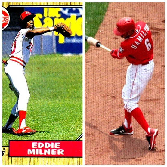 Two speedy Reds CFs wearing stirrups