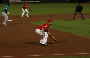 Eric Jagielo at third base