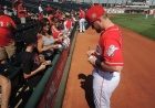 Tucker Barnhart signs autographs