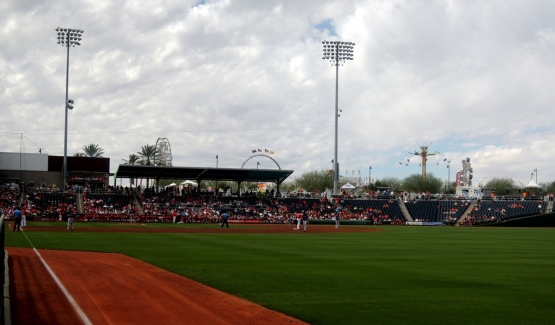 Sunday afternoon at Goodyear Ballpark