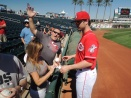 Jesse Winker signs autographs