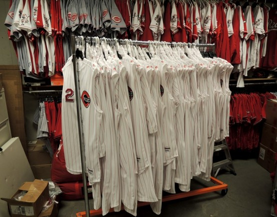 Reds will be wearing these throwback uniforms today