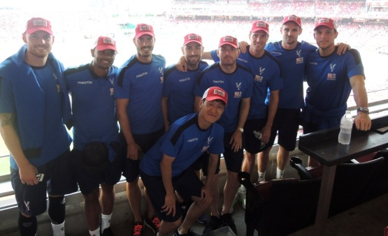 Members of the Crystal Palace Football Club on 7/15/16 at Great American Ball Park