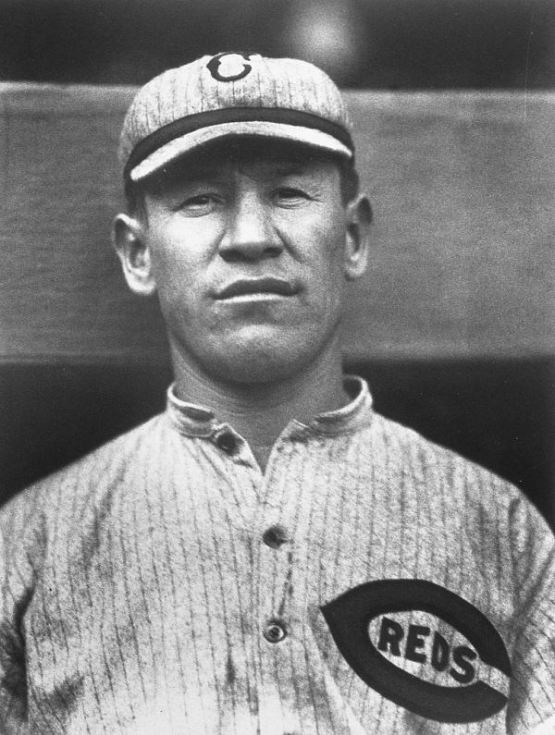 CINCINNATI - 1917.  Cincinnati Reds outfielder Jim Thorpe poses for a portrait in the Polo Grounds in New York in 1917.  (Photo by Mark Rucker/Transcendental Graphics, Getty Images)