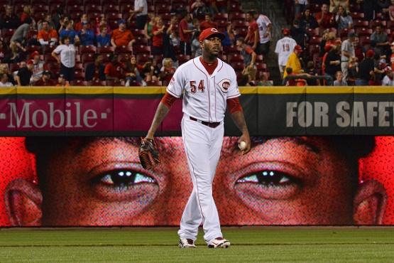 Aroldis Chapman. (Photo by Jamie Sabau/Getty Images)